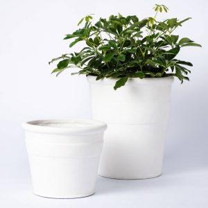 White Composite Planter