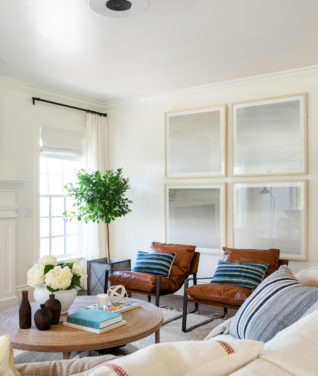 Two-Day Transformation: Coastal + Traditional Living Room