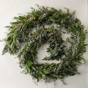 Fresh Eucalyptus + Bay Leaf Garland