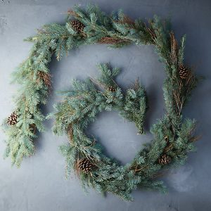 Fresh Fir + Pine Cone Garland