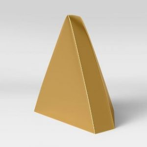 Metal Bookend Pyramid Gold