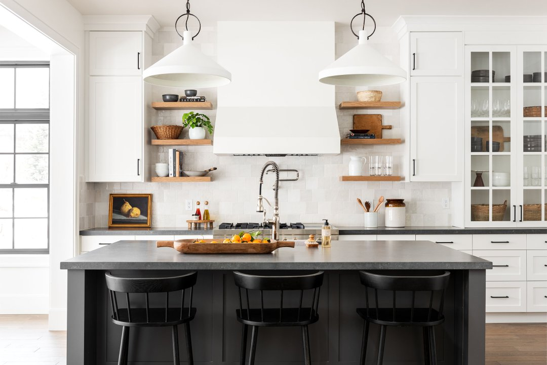 Black & White Transitional Kitchen - Studio McGee