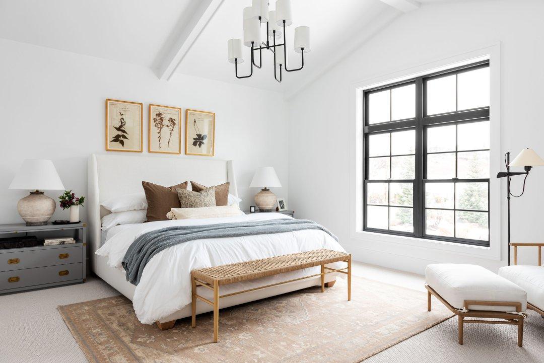 A Cozy Textured Master Bedroom