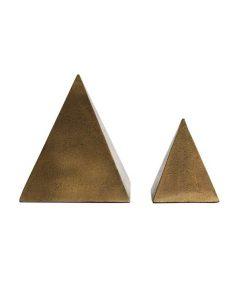 Aged Brass Pyramid