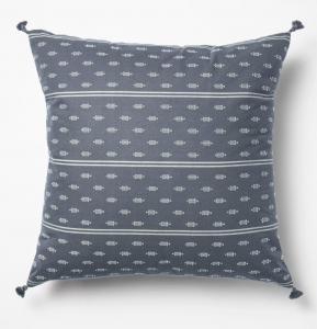 Woven Dobby Throw Pillow Blue/Neutral