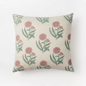 Floral Printed Throw Pillow