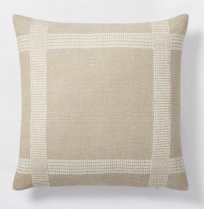 Oversized Woven Cotton Square Throw Pillow