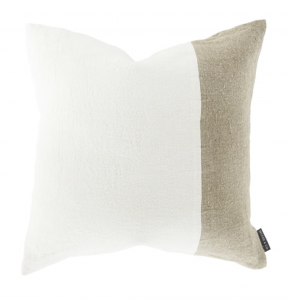 Gina Patched Linen Pillow Cover