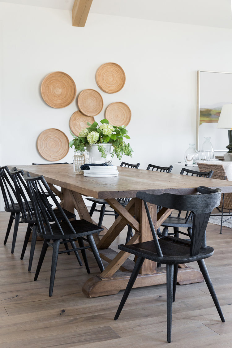 Dining+room+with+exposed+beams,+mismatched+chairs,+black+chairs+in+mountain+home+-+Studio+McGee+Design-1.jpg