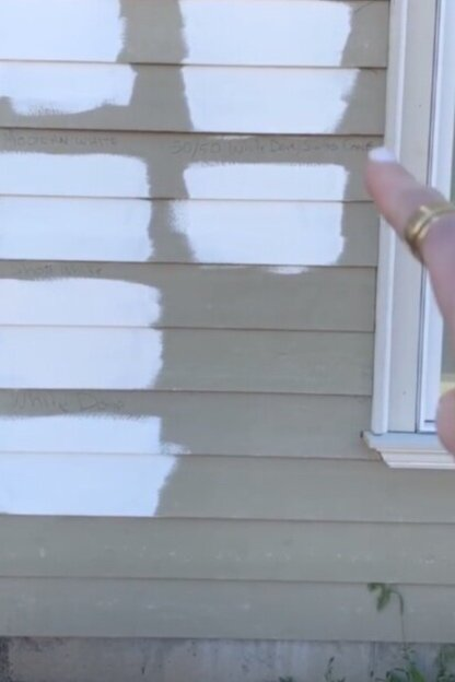 I didn't even have to ask  Killowen Construction  to do our paint swatches in multiple locations!