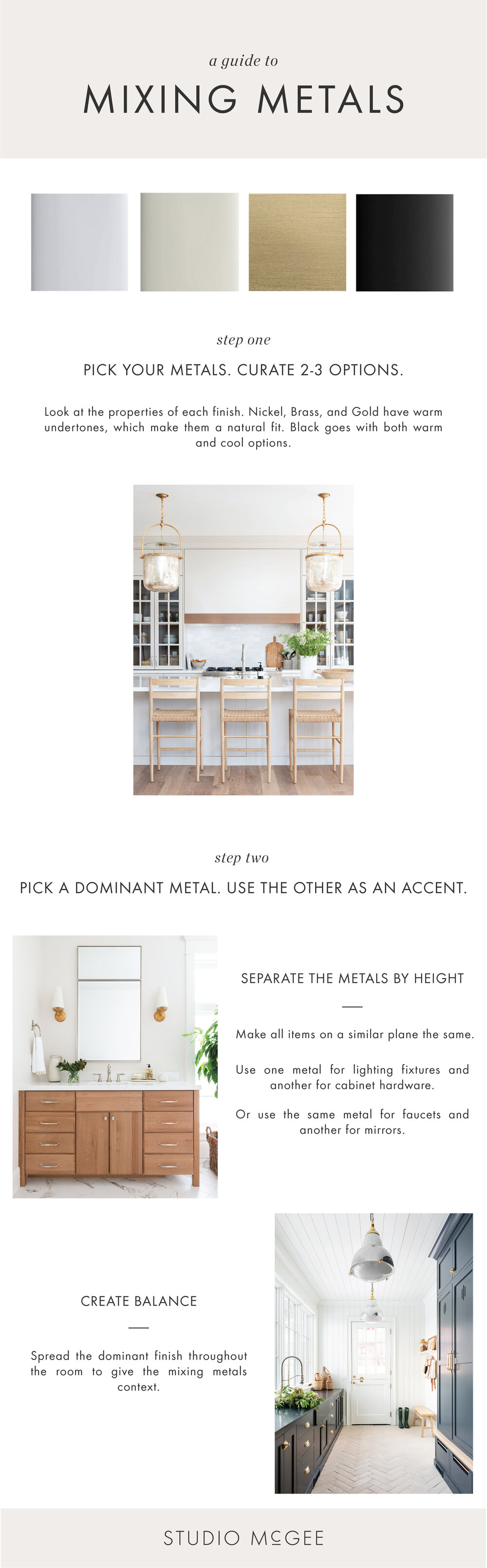 How to Mix Metal Finishes