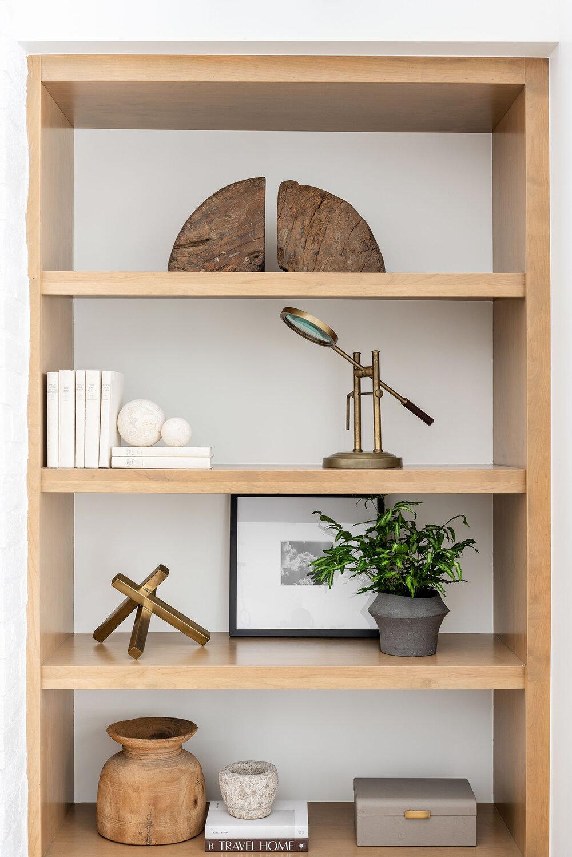 Styling Long Open Shelves