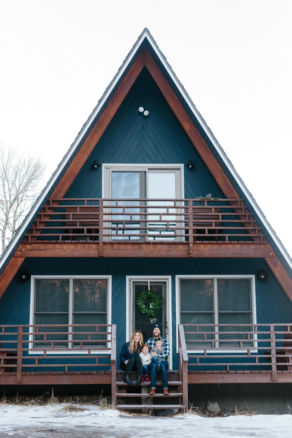 The McGee's at A-Frame Haus.