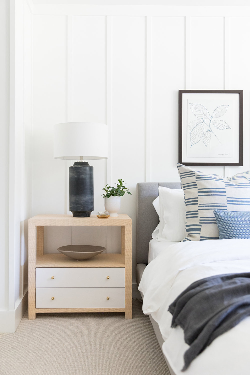 Natural, textured bedroom with fort batten wall detail | Studio McGee Blog