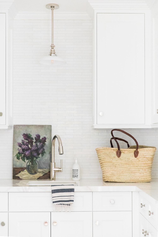 laundry room pendant over sink | studio mcgee design