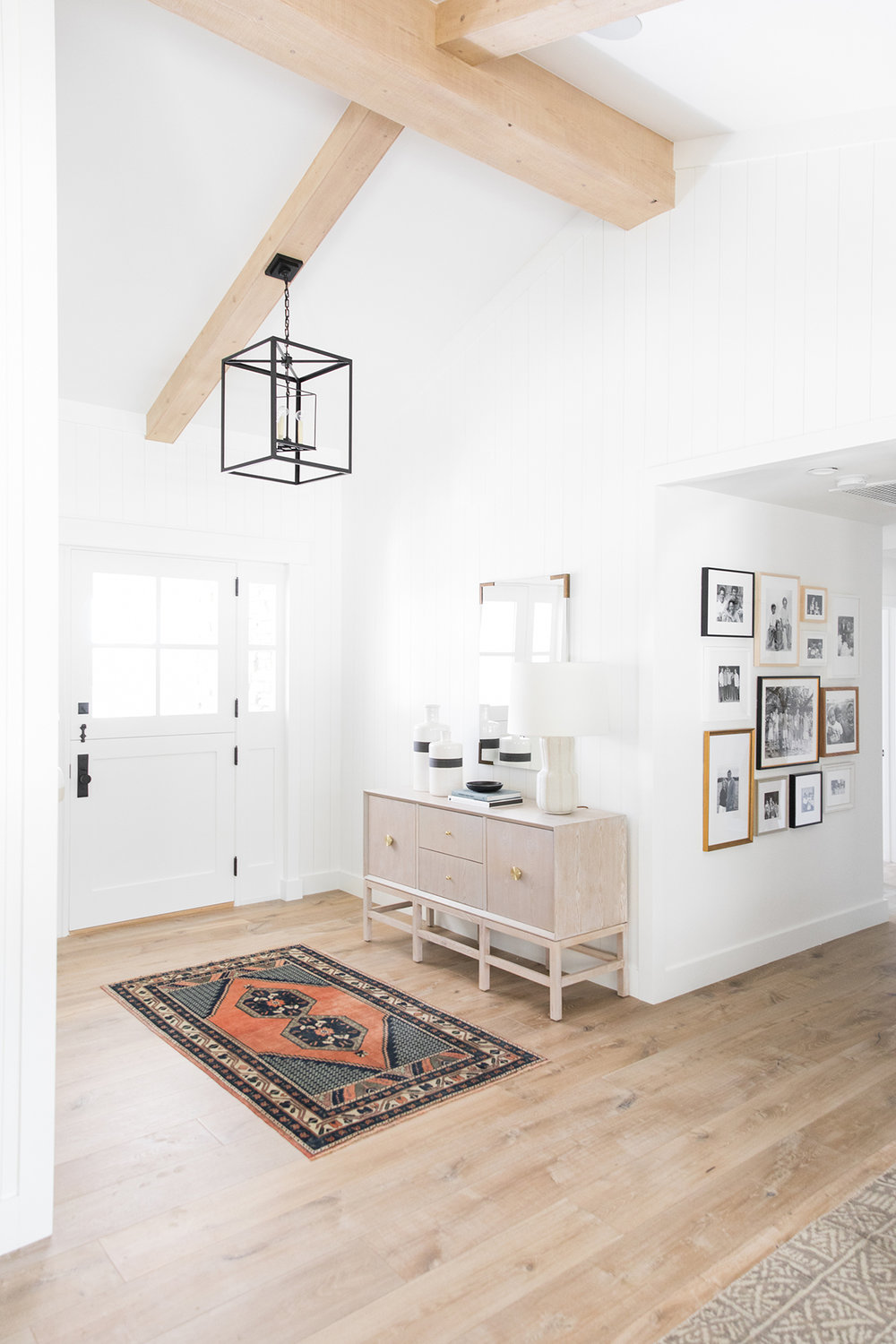 Vintage Rug | Natural Beams | Console Styling