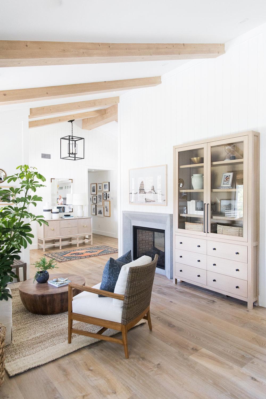 Sitting Room | Natural Beams | Vertical Paneling