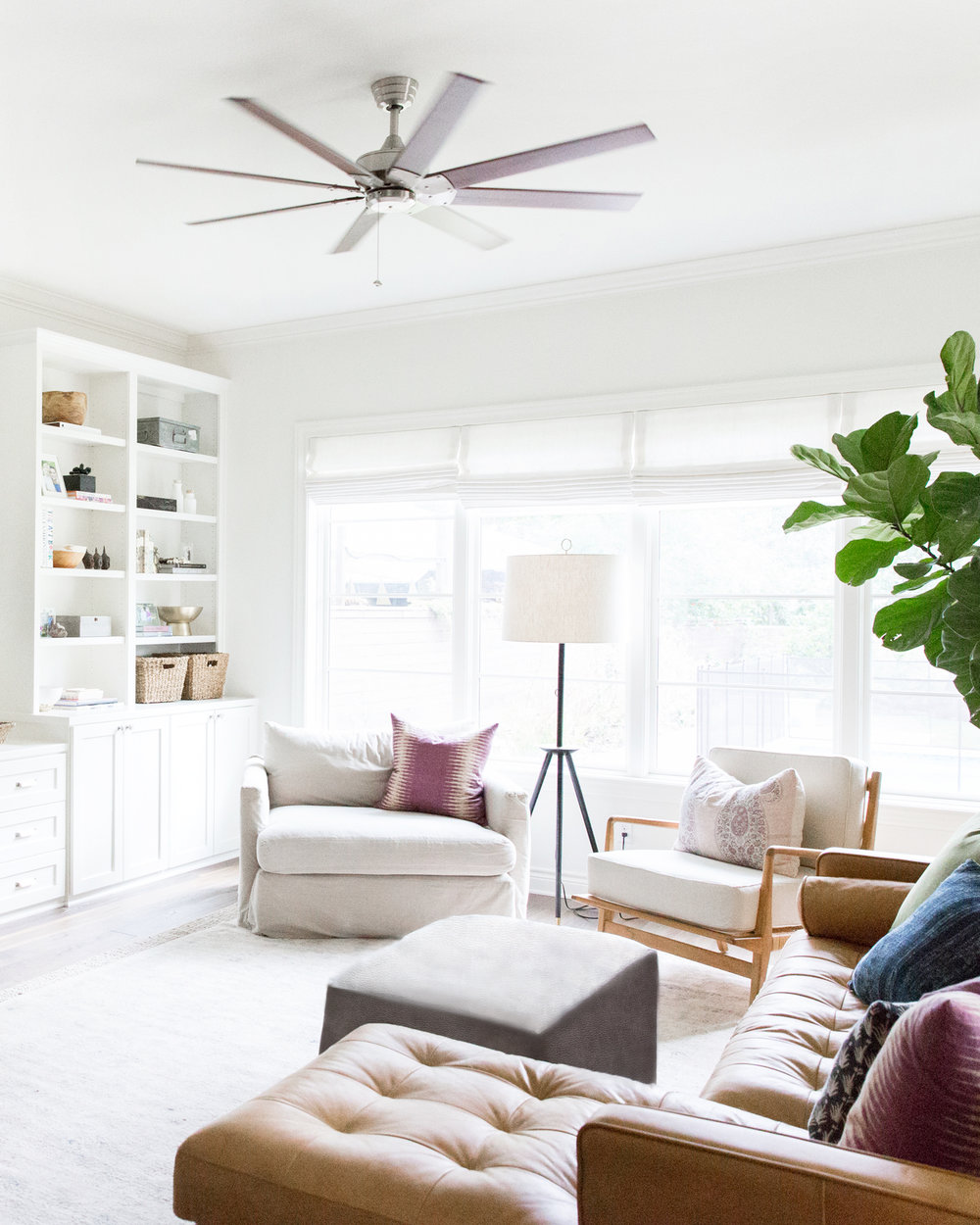 California Bohemian Styled Living Room