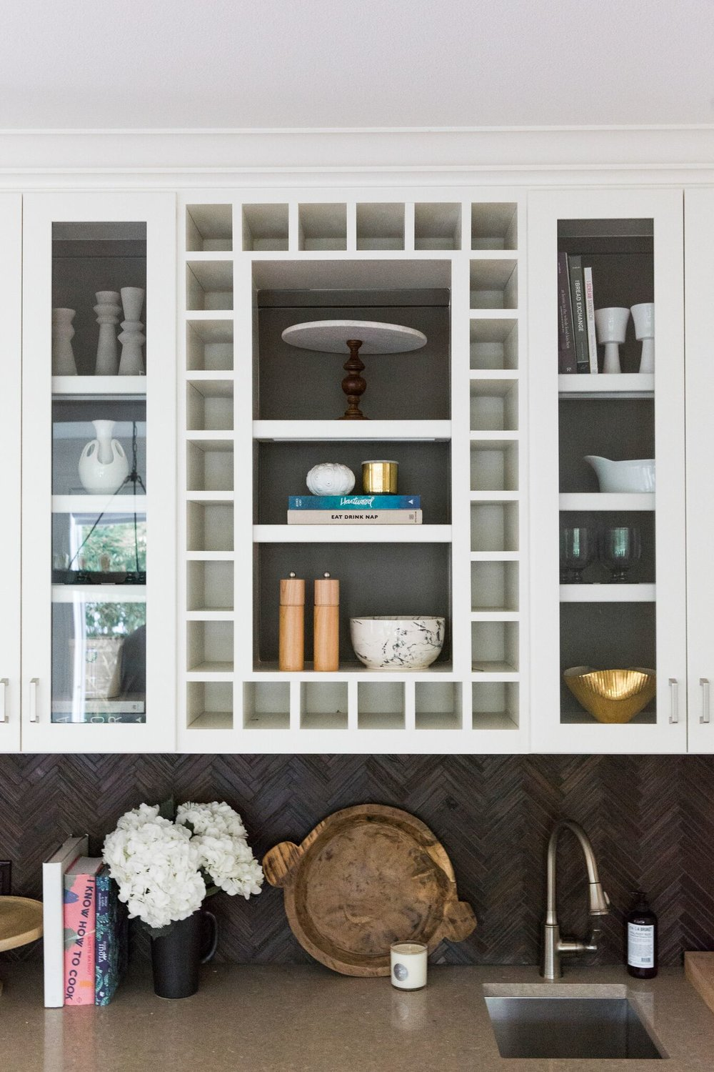 Nook with Open Shelf Styling