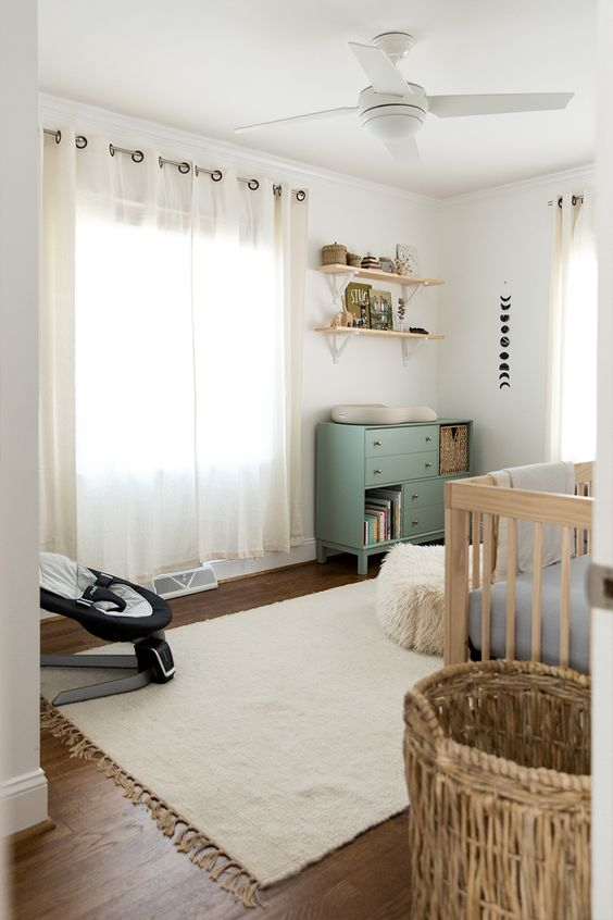 Kid spaces and nursery with soft and cozy rugs