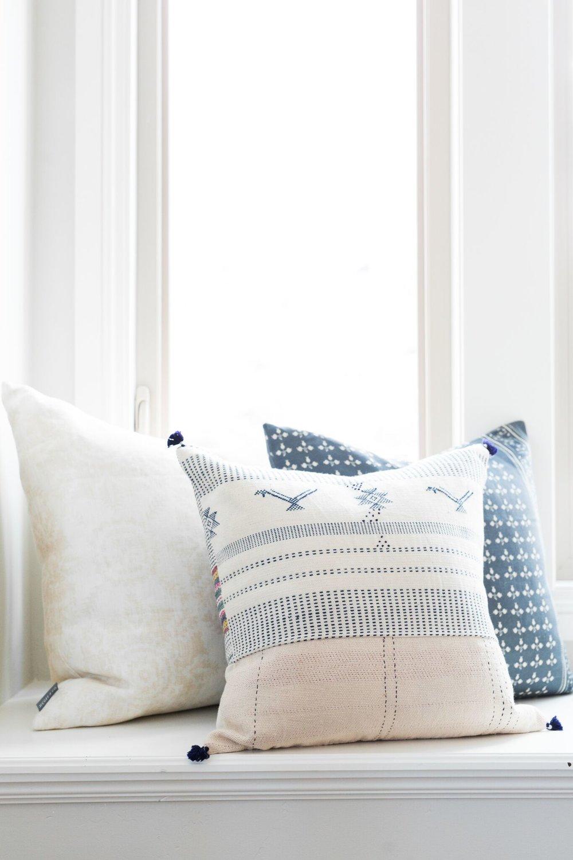 Hartford Block Print Pillow ,  Sawyer Pillow ,  Faria Pillow