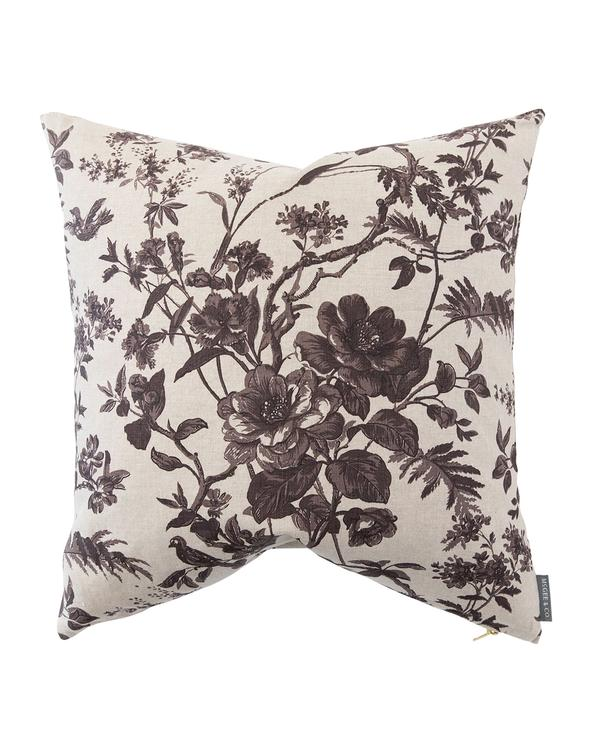 Cecily Floral Linen Pillow Cover