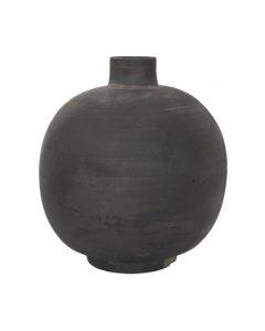 Round Clay Vase
