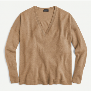 Cashmere V-neck Boyfriend Sweater