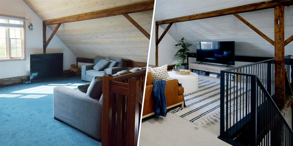 A sneak peak of a before and after from one of our show projects!