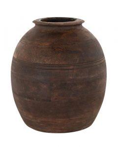 Aged Wood Vase