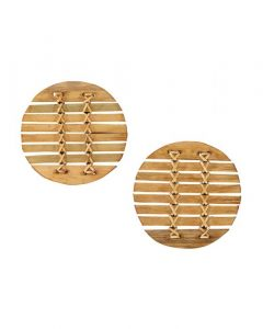 Bamboo Stitched Coasters (Set of 6)