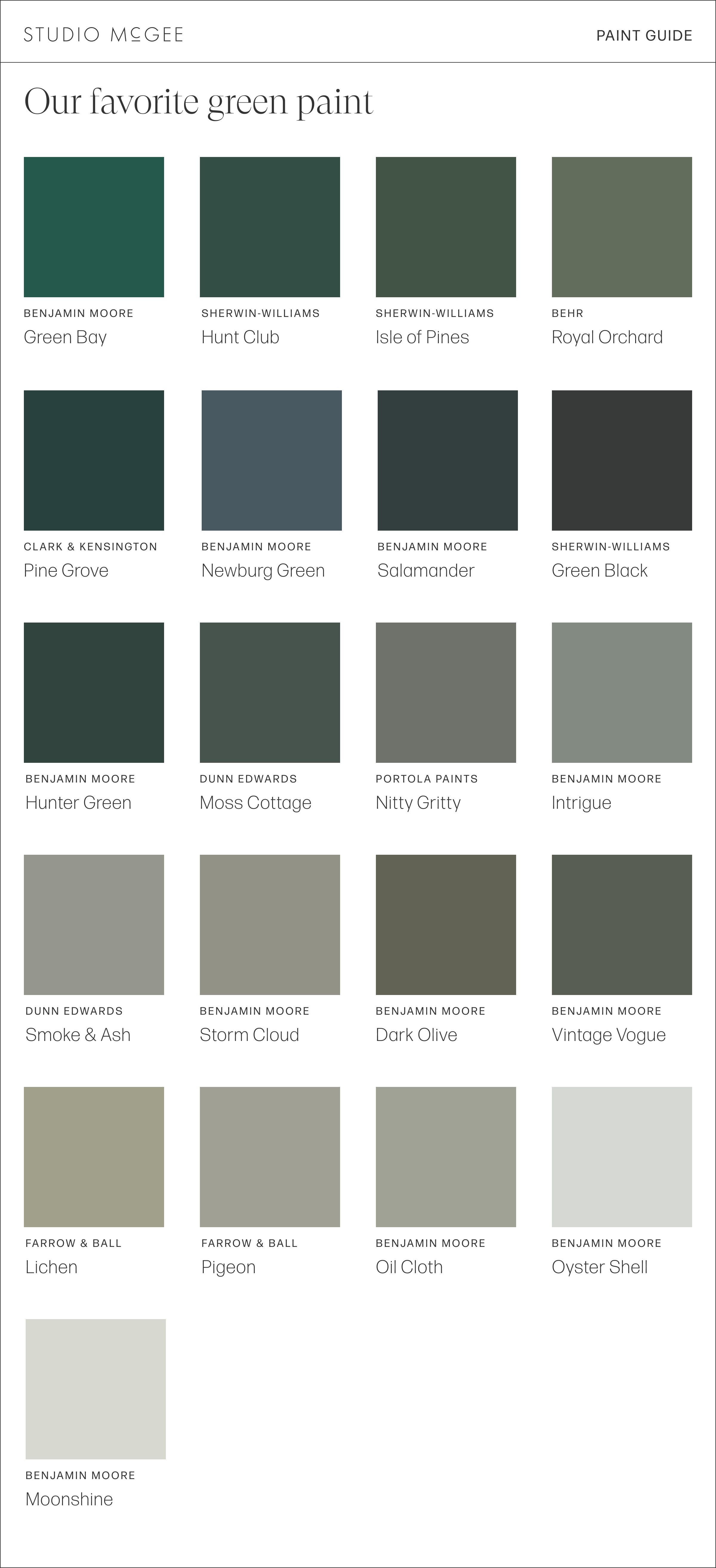 Our Favorite Green Paint Colors Studio Mcgee