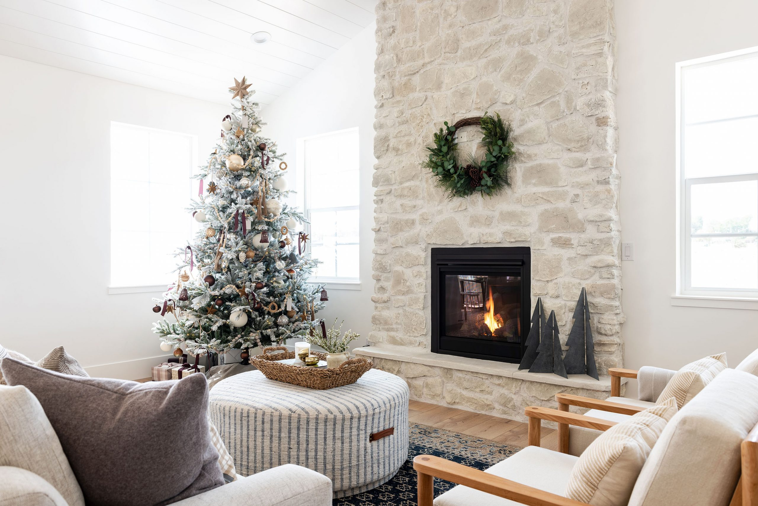 A Wintery Layered Great Room Look