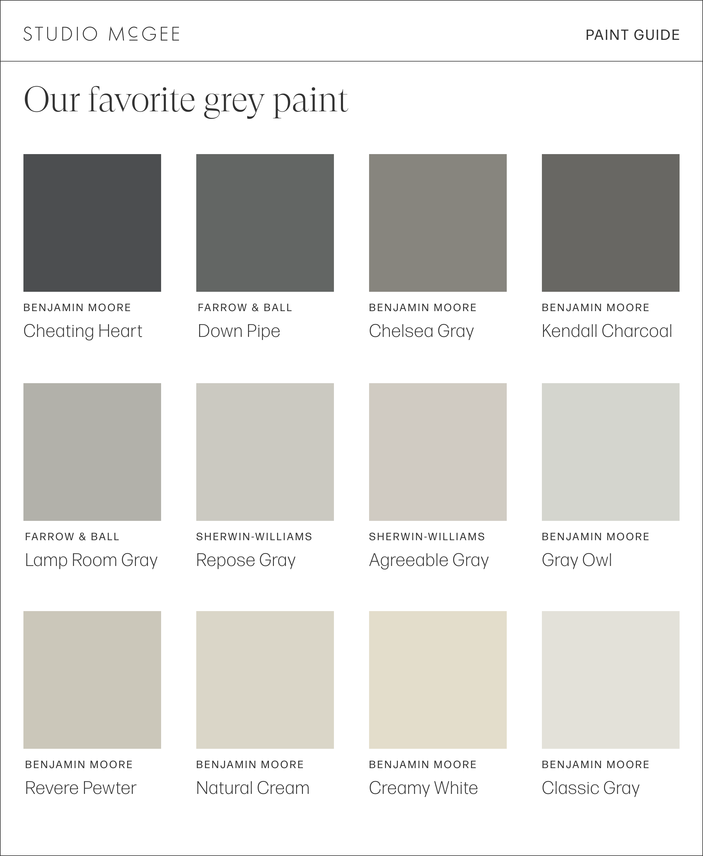Our Favorite Grey Paint Colors Studio Mcgee
