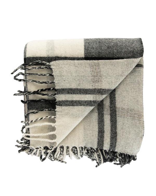 Woven Wool Plaid Throw