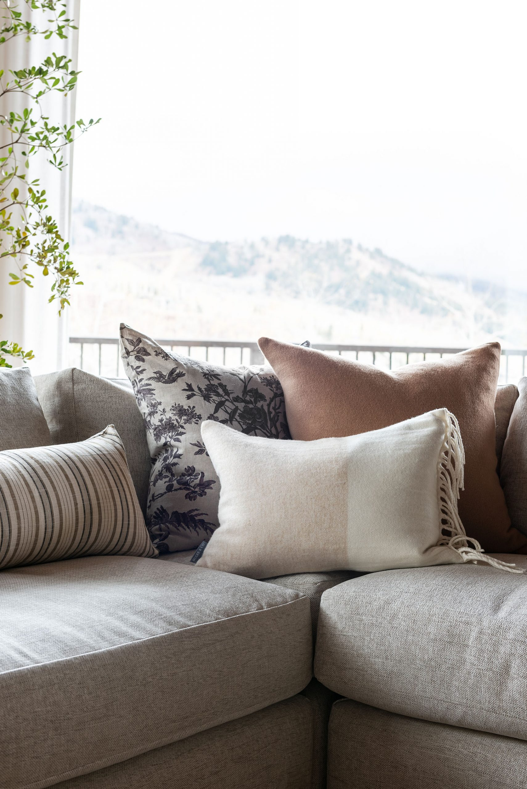 How To Style Pillows On A Sectional Studio Mcgee