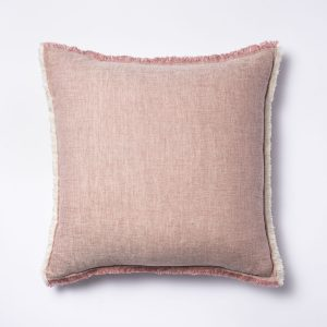 Linen with Contrast Frayed Edges
