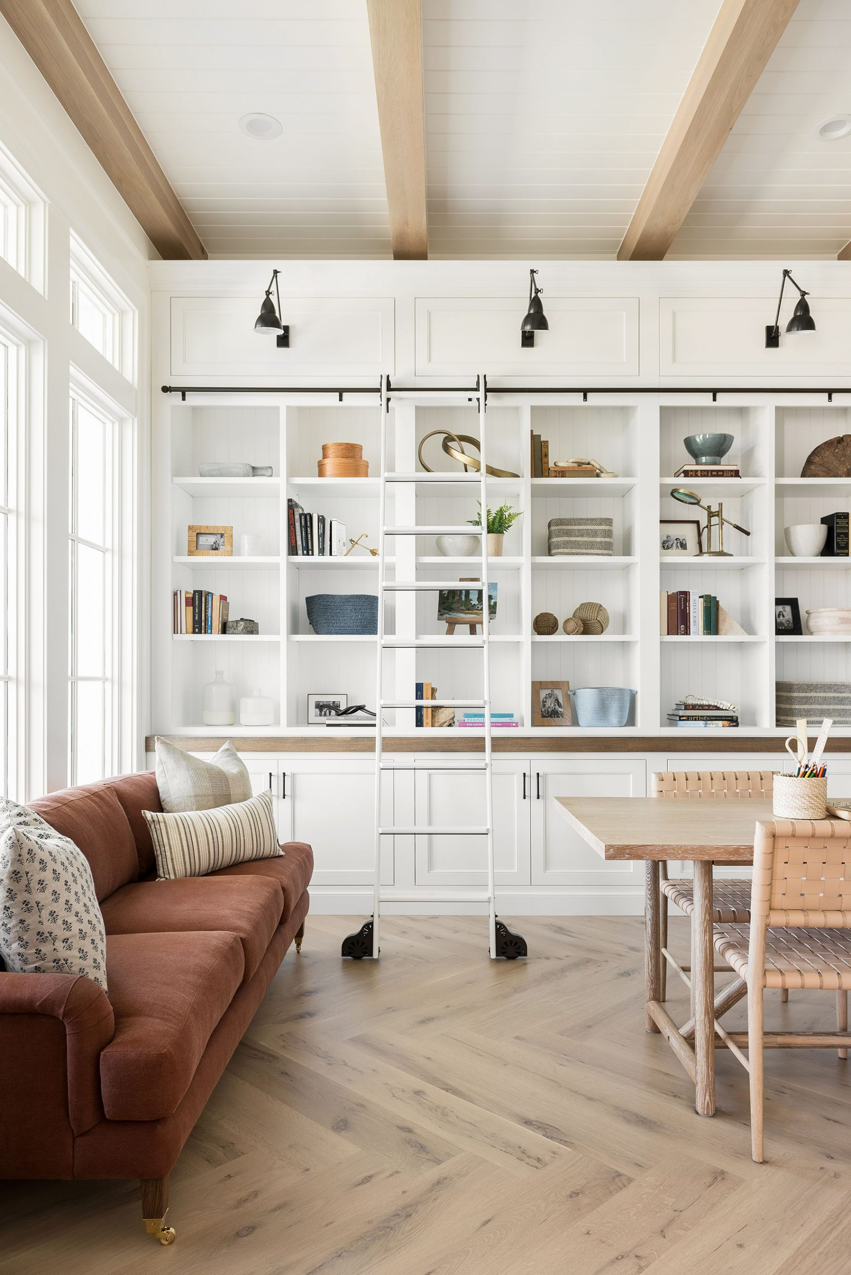 Home on The Ranch: Entry Library & Mudroom