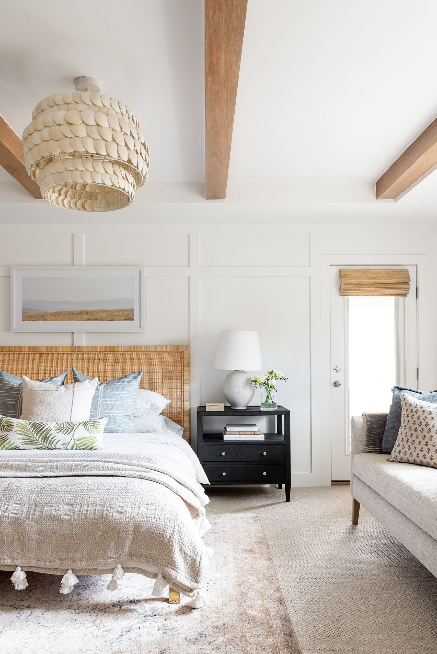 Layered Coastal Netflix Bedroom Remodel
