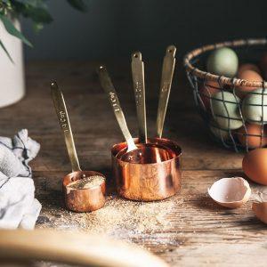 Artisan Copper Measuring Cups Set