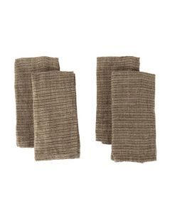 Brown Striped Napkin (Set of 4)