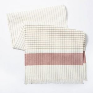 Cotton Striped Table Runner