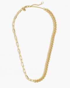 Shiny Mixed Chain Choker Necklace