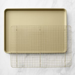 Gold Cookie Sheet and Cooling Rack