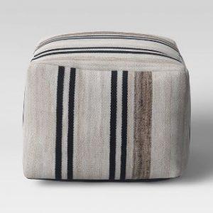 Cube Style Pouf Marled Stripe