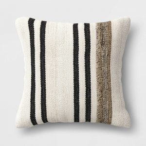 Square Throw Pillow Marled Stripe