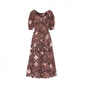 Colette floral cotton-poplin midi dress