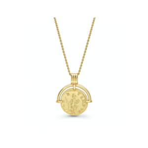 Gold Roman Coin Necklace