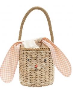 Meri Meri Straw Bunny Basket