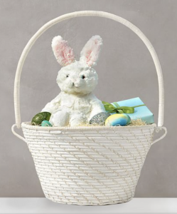 White Easter Basket